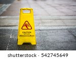 sign showing warning of caution ... | Shutterstock . vector #542745649