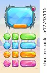 crystal game user interface... | Shutterstock .eps vector #542748115