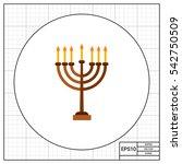 menorah vector icon | Shutterstock .eps vector #542750509