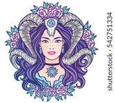 Capricorn   Zodiac Hand Drawn...