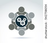 illustration of gears  ... | Shutterstock . vector #542758054