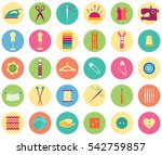 set of thirty sewing and... | Shutterstock .eps vector #542759857