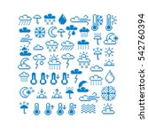 pixel icons isolated ... | Shutterstock . vector #542760394