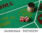 dice on crap layout showing 12  ...   Shutterstock . vector #542765254