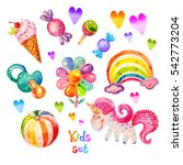 Colorful Watercolor Kids Set I...