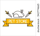 pet shop symbols vector. | Shutterstock .eps vector #542774665