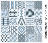 graphic ornamental tiles... | Shutterstock . vector #542774725