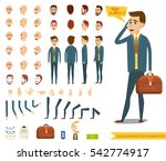 businessman or male person... | Shutterstock .eps vector #542774917