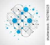 bauhaus art composition ...   Shutterstock . vector #542780125