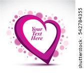 decorative purple love heart... | Shutterstock . vector #542784355