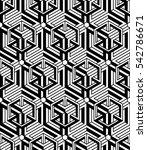 black and white illusive... | Shutterstock . vector #542786671