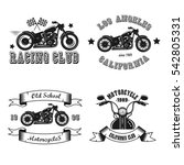 set vintage logo for motorcycle ... | Shutterstock .eps vector #542805331