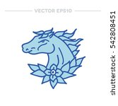 doodle icon. horse. traditional ... | Shutterstock .eps vector #542808451