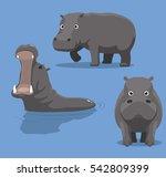 cute hippopotamus cartoon... | Shutterstock .eps vector #542809399