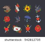 doodle icon. traditional tattoo ... | Shutterstock .eps vector #542812735