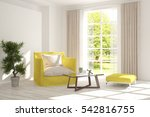 white room with armchair and... | Shutterstock . vector #542816755