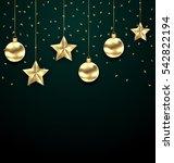 illustration christmas dark... | Shutterstock . vector #542822194