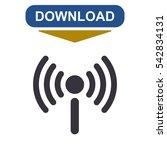 wifi icon vector flat design...   Shutterstock .eps vector #542834131