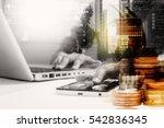 double exposure of... | Shutterstock . vector #542836345