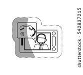 isolated man operator design | Shutterstock .eps vector #542837215