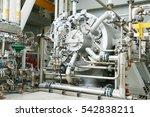 machine turbine in oil and gas... | Shutterstock . vector #542838211