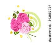 floral arrangement of pink... | Shutterstock .eps vector #542853739