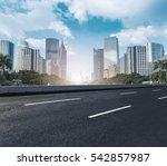 modern urban buildings and roads   Shutterstock . vector #542857987