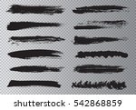vector brush strokes.hand drawn ... | Shutterstock .eps vector #542868859