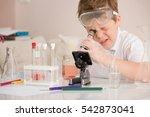 cute elementary schoolboy... | Shutterstock . vector #542873041