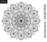 flower mandala. vintage...   Shutterstock .eps vector #542875969