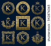 vintage monograms set of k... | Shutterstock .eps vector #542876365