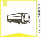 bus vector icon. public... | Shutterstock .eps vector #542879419