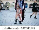 paris october 5  2016. street... | Shutterstock . vector #542885149