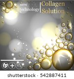 bubbles oil serum skin care... | Shutterstock .eps vector #542887411