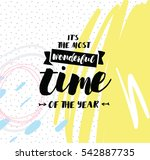 it's the most wonderful time of ... | Shutterstock .eps vector #542887735