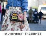 paris october 1  2016. street... | Shutterstock . vector #542888485