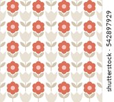 seamless floral background.... | Shutterstock .eps vector #542897929