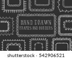 hand drawn frames and borders.... | Shutterstock .eps vector #542906521