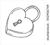 heart shaped lock. | Shutterstock .eps vector #542906749
