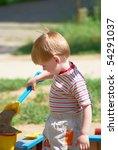 the little boy on walk in the... | Shutterstock . vector #54291037