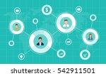 social network marketing... | Shutterstock .eps vector #542911501