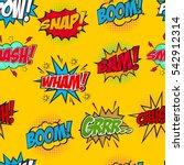 set of comic text  pop art... | Shutterstock .eps vector #542912314