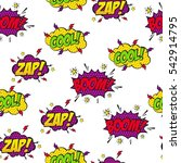 set of comic text  pop art... | Shutterstock .eps vector #542914795