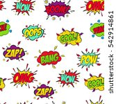 set of comic text  pop art... | Shutterstock .eps vector #542914861