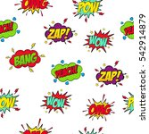set of comic text  pop art... | Shutterstock .eps vector #542914879