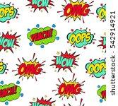 set of comic text  pop art...   Shutterstock .eps vector #542914921