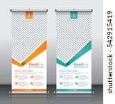 vector roll up banner template... | Shutterstock .eps vector #542915419