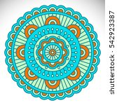 ornament beautiful card with... | Shutterstock . vector #542923387