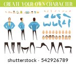 set for creation of cartoon... | Shutterstock .eps vector #542926789