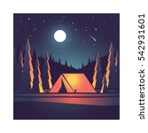 camping in the mountains.... | Shutterstock .eps vector #542931601